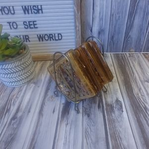 Vintage Coasters with Holding Tray